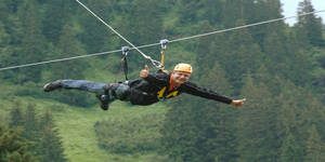 Der Flying Fox - eine Attraktion in Saalbach Hinterglemm