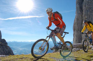 Mountainbiken am Wilder Kaiser im Sommer